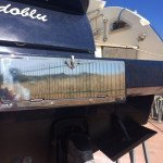 Fiberglass work. Rebuilding Fiberglass, stuccowork, painting and polishing in Sardinia - Results 1