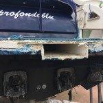 Fiberglass work. Rebuilding Fiberglass, stuccowork, painting and polishing in Sardinia 2