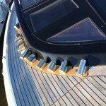 Teak deck, glueing teak slat or teak panel for motor boat in Sardinia. After Photo 3