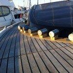 Teak deck, glueing teak slat or teak panel for motor boat in Sardinia. After Photo 4