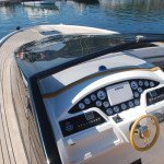 Teak deck, glueing teak slat or teak panel for motor boat in Sardinia. After Photo 1