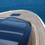 Teak deck, glueing teak slat or teak panel for motor boat in Sardinia. After Photo 5