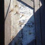 Teak deck, glueing teak slat or teak panel for motor boat in Sardinia. Before Photo1