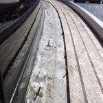 Teak deck, glueing teak slat or teak panel for motor boat in Sardinia. Before Photo3