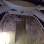 Sardinia Tank fiberglass removal, cleaning and fixing. Before photo